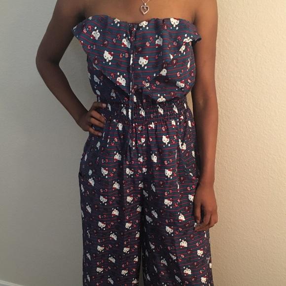 861e5d882 Hello Kitty Dresses | Strapless Wide Leg Jumpsuit | Poshmark
